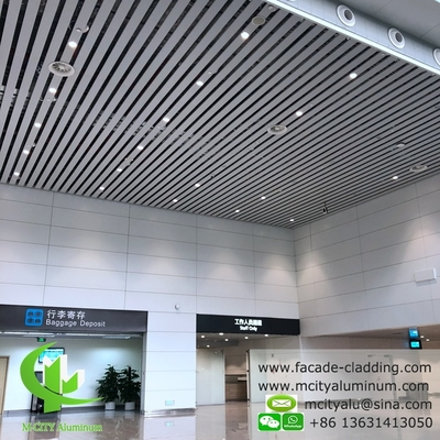 China metal Aluminum ceiling tile strip ceiling for interior and exterior powder coated white fireproof supplier