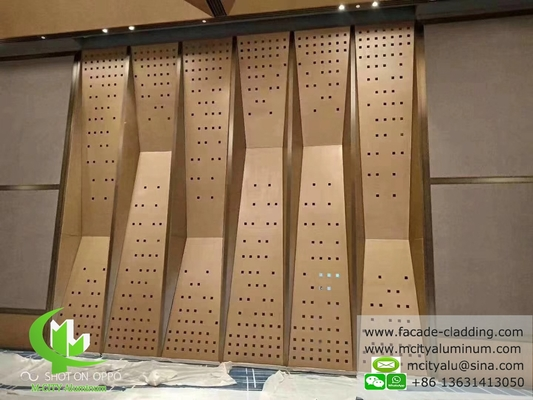Perforated aluminum sheet for Wall cladding metal curtain wall