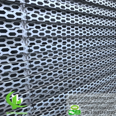 Architectural Perforation panel for building facade clad for AUDI TERMINAL FACADE