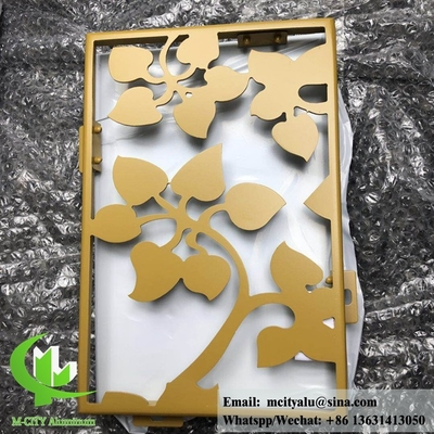 China Solid aluminum facade panel for wall cladding powder coated RAL color gold color supplier
