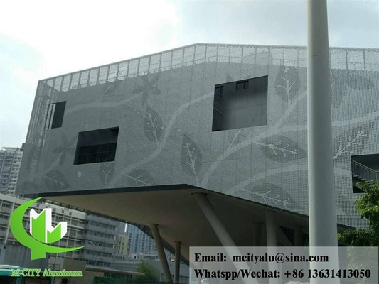 Decorative aluminum panels for building wall cladding facade