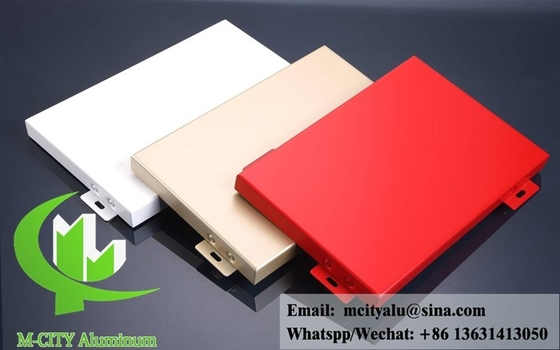 Solid aluminum panels powder coating for building wall cladding