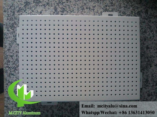 Exterior round hole perforated sheet metal Aluminum panel for facade or ceiling