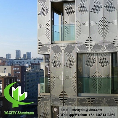 Architectural aluminum facade system solid aluminum panel customized