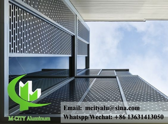 Aluminium facade perforated sheet  for building cladding waterproof