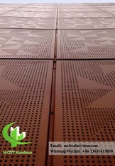 Punched Aluminium facade perforated panel for building cladding
