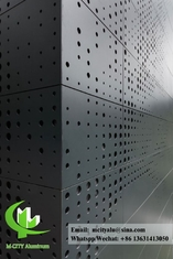 Laser cut Aluminium facade perforated sheet  for building cladding ppg paint