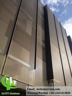 Perforated metal aluminum panel laser cut metal panels for exterior