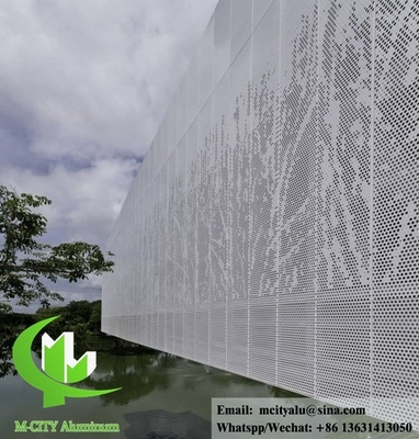 Perforated metal aluminum panel fluorocarbon solid aluminum panel