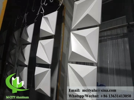 Architectural 3D aluminum panel for facade cladding customized design formed sheet
