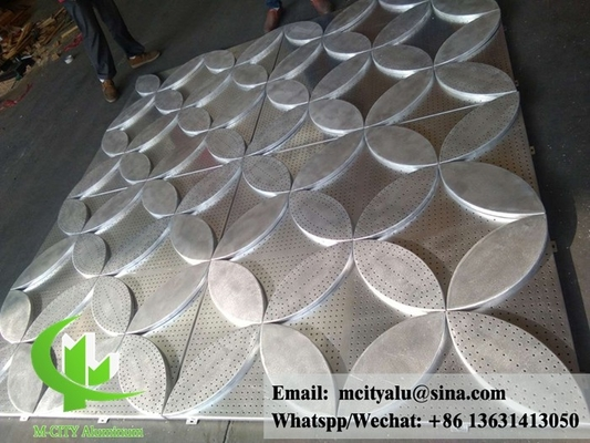Architectural aluminum panel perforation for facade cladding customized design