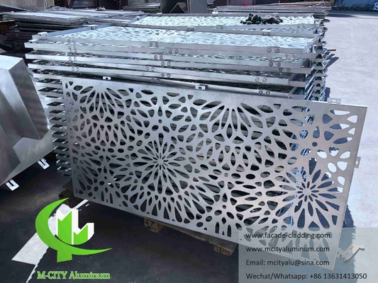 Flower design Aluminum panels for hospital facade customized metal sheet China manufacturer
