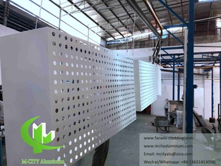 China Metal CNC cutting panel aluminum fluorocarbon perforated panel curtain wall for facade cladding supplier