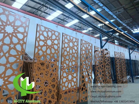 Islamic Architectural aluminum facade laser cut for muslim mosque wall cladding