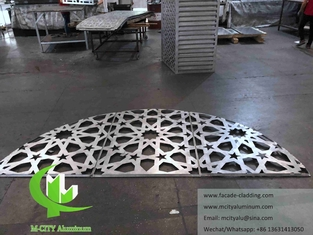 Architectural aluminum facade laser cut metal sheet for muslim mosque wall cladding