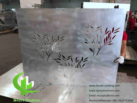Architectural aluminum facade laser cut metal sheet for wall cladding