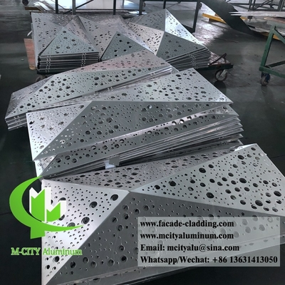 3D shape perforated aluminum panels for hotel facade customized metal sheet