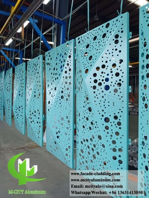 China 3D shape perforated aluminum panels for hotel facade customized metal sheet supplier