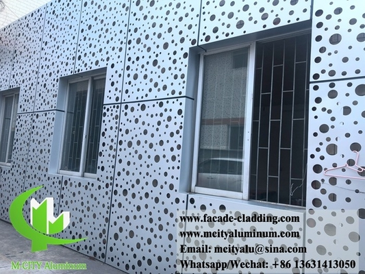 China Metal facades peforated round holes metal wall cladding design supplier