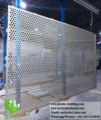 CNC perforated sheet metal Outdoor aluminium sheet facade cladding for facade exterior cladding