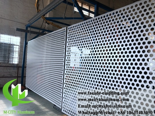 China Manufacturer of Exterior Architectural aluminum facade perforated panels for cladding