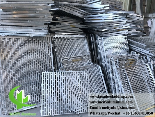 3mm  Powder coated Metal aluminium perforated panel cladding for facade exterior cladding