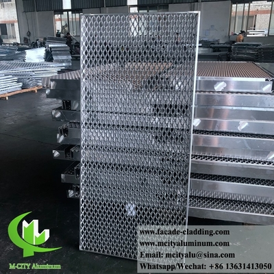 China Metal Aluminum expanded mesh architectural screen panel for exterior facade supplier