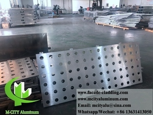 China CNC perforated sheet metal Outdoor aluminium sheet facade cladding 3mm folded supplier