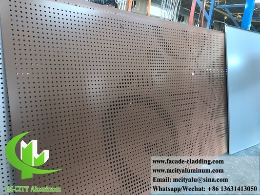 China Metal facades design perforation solid aluminum panels factory in Foshan, China supplier