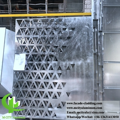 China CNC Architectural perforated sheet metal Outdoor aluminium sheet facade cladding 3mm folded supplier