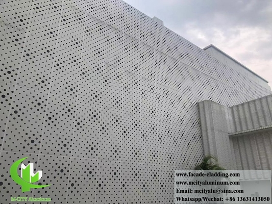 China Metal facade aluminum sheet perforated panel curtain wall for facade cladding supplier