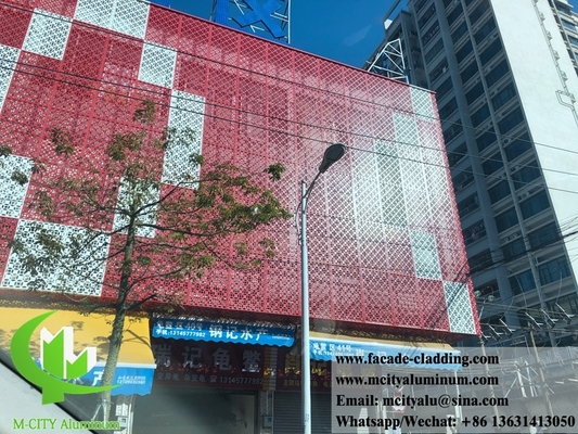 China Perforated metal cladding panels metal facades 3mm aluminum sheet supplier
