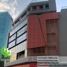 Exterior wall cladding Metal facade aluminum panel perforated sheet supplier in China