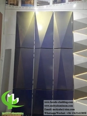 China 3D shape aluminum facades metal screen aluminum wall cladding powder coated supplier