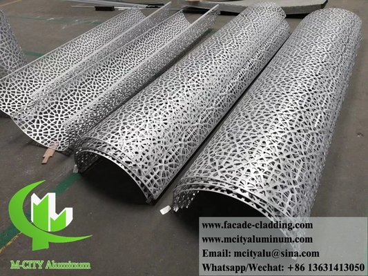 China Solid metal panels aluminium cladding decorataion for column round shape with laser cut design supplier
