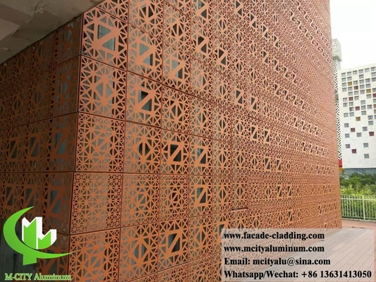 China Perforated metal cladding design aluminium facades for building decoration architectural supplier