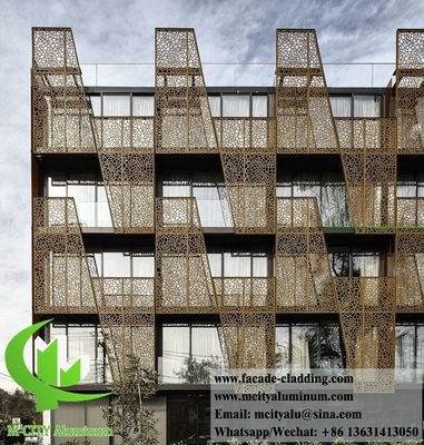 China External laser cut Perforated metal cladding aluminium facades for building architectural decoration supplier