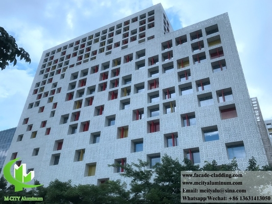 Perforated metal facades aluminium wall cladding PVDF nature color anit rust