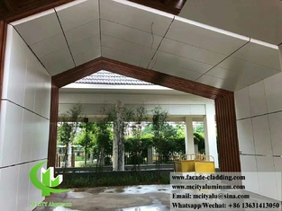 China Metal cladding aluminium solid wall cladding metal sheet for roof and facade supplier