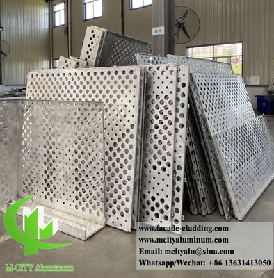 China Perforated metal screen aluminum sheet for building facade cladding 3mm thickness supplier
