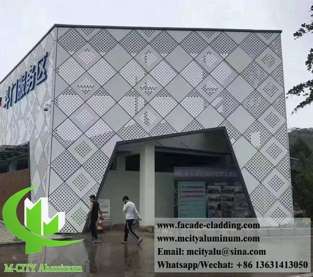 China Perforating metal sheet aluminum screen for external wall cladding supplier