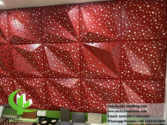 China 3D metal facade design aluminium sheet for interior and exterior wall cladding decoration supplier