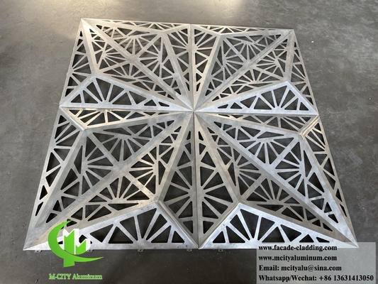 China Laser cut decorative pattern 3D design metal facade system aluminium sheet with hollow patterns supplier