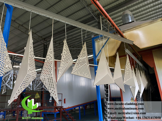 China Customized metal cladding panel aluminium sheet perforation patterns PVDF paint supplier