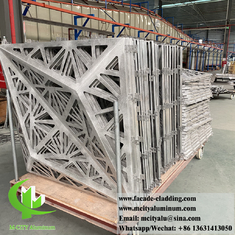 China 3D cladding facade system aluminium metal material anti rust powder coated 3mm thickness supplier