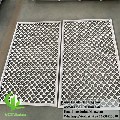 China Laser cut metal screen aluminium panels for window mesh and wall cladding decoration supplier