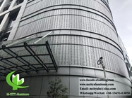 CNC perforated aluminum facade