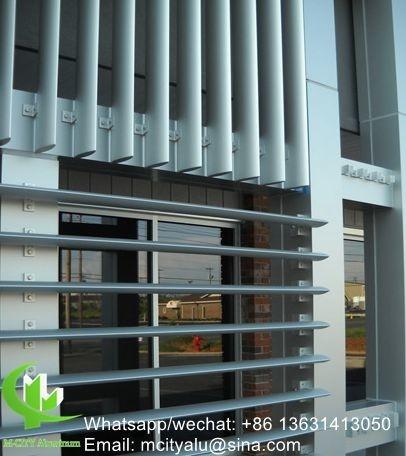 Vertical Louver Architectural Aerofoil Profile Aluminum