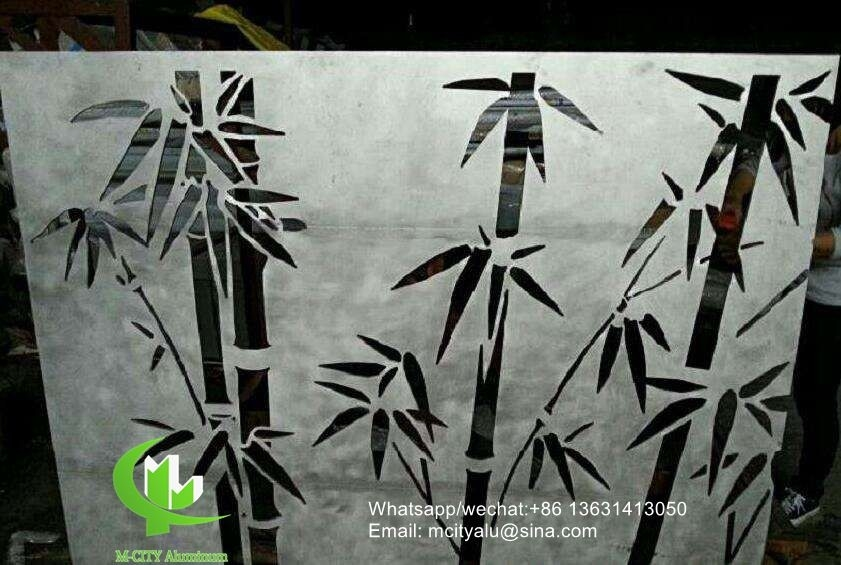 3mm cladding aluminum solid panel with bamboo pattern for facade
