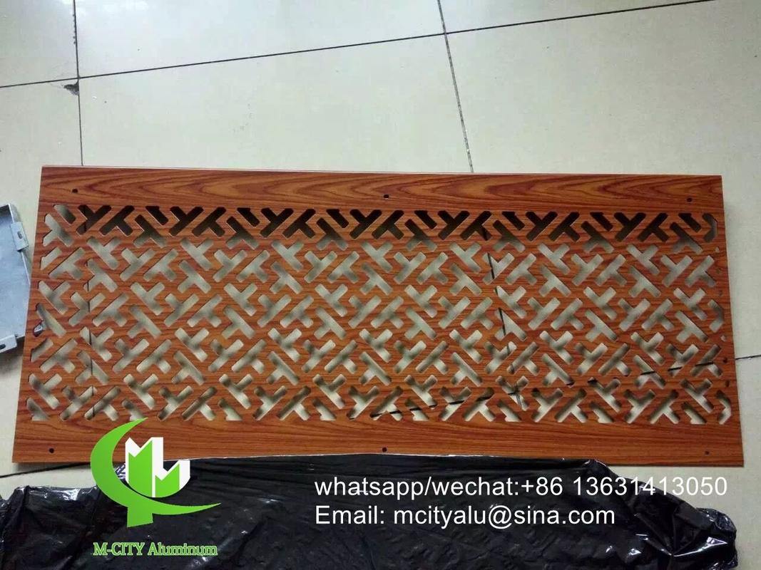 wood color aluminum veneer sheet metal facade cladding bending sheet ...